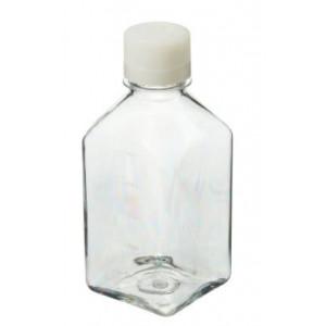 500mL Square PETG Sterile Media Bottle, 38-430 HDPE Screw Thread Closure (40/cs)