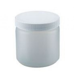4oz Natural HDPE Straight Sided Jar Assembled w/70-400 F-217 Lined Cap (400/cs)