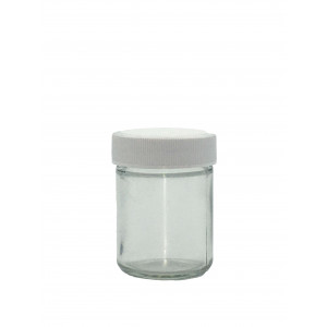 4oz Clear Economy Jar Assembled w/48-400 F-217 Lined Cap (24/cs)