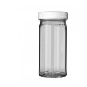 4oz Clear Tall Wide Mouth Assembled with 48-400 PTFE Lined Cap (144/cs)