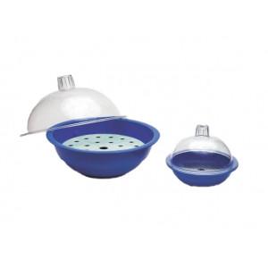 Desiccator,Polycarbonate Cover; Blue PPE Body; Aluminum Plate (6/cs)