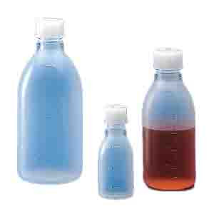 Bottle with Screwcap, Narrow Mouth, PP, Graduated, 250mL, 50/Unit