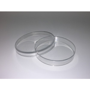 100mm x 15mm Polystyrene Petri Dish, Stackable, Sterile (20pk/500cs)