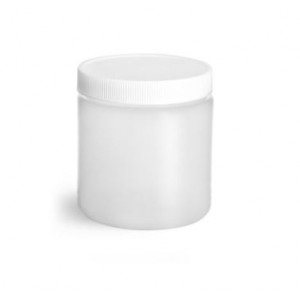8oz/250mL Natural HDPE Straight Sided Jar,70-400, A1 Certified, Bar Coded, Labeled (24/cs)