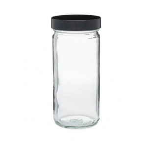 8oz Clear Tall Wide Mouth Paragon Assembled with 58-400 Phenolic Poly Vinyl Lined Cap (24/cs)