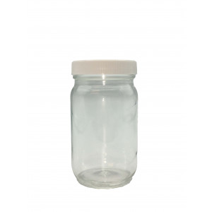 8oz Clear Economy Jar Assembled w/58-400 F-217 Lined Cap (24/cs)