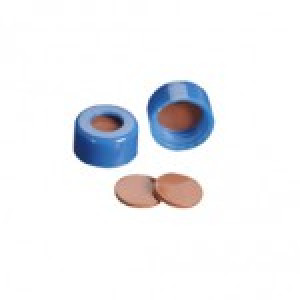 9mm AVCS Blue Target DP Cap w/Pre-Slit PTFE/Red Rubber Septum (100/pk)
