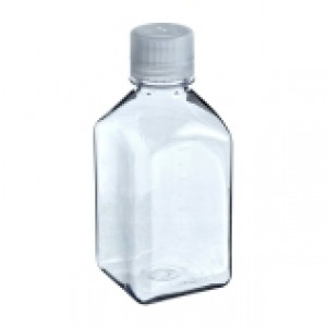 Narrow-Mouth Square Bottle Polycarbonate125 mL (48cs)