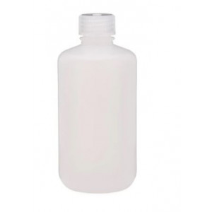 8oz Narrow Mouth HDPE Natural Fluorinated Bottle, Level 5, 28mm PP Cap (72/cs)