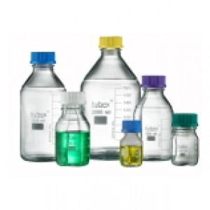 hybex, Media Storage Bottle, Starter Pack, with GL45 Blue Cap and Sealing Ring (2 x 100mL, 3 x 250mL, 3 x 500mL  and 2x 1000mL)