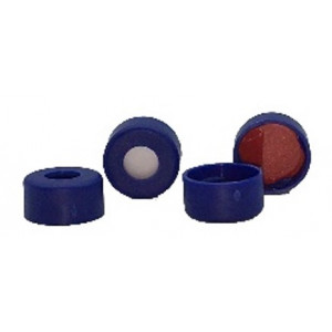 """Cap, Snap, 11mm, Blue, Red PTFE/White Sil, 0.04""""  100pk"""
