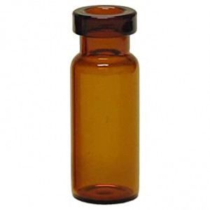 2mL Amber Narrow Mouth Crimp Vial 11mm, {12x32mm} (100/pk)