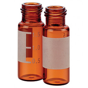 2mL, Amber Glass I-D™, 12x32mm, Flat Base, 8-425 Screw Thread Vial (100/pk)