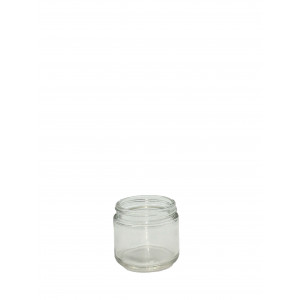 2oz Clear Straight Sided Jar Assembled w/53-400 PTFE Lined Cap, Certified (24/cs)