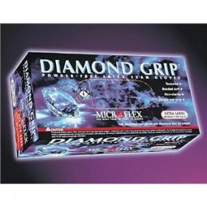 MicroFlex DIAMOND GRIP Gloves, Medium, 100/bx (10bx/cs)