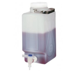 20 Liter Fluorinated LDPE Rectangular Carboy w/Spigot (1 per case)