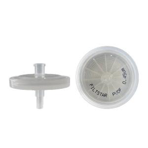 13mm, 0.45um Hydrophilic PVDF Syringe Filter (100/pk)