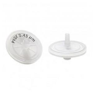 30mm, 0.45um Hydrophilic PVDF Syringe Filter (100/pk)