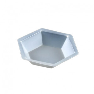 Weighing Dish, Plastic, Hexagonal, Antistatic, 50mL, PS, 500/Unit
