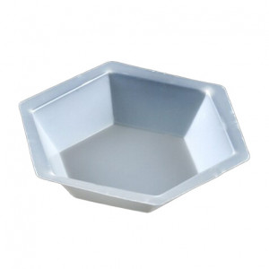 Weighing Dish, Plastic, Hexagonal, Antistatic, 350mL, PS, 500/Unit