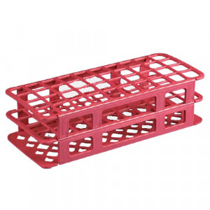 Rack, Tube, 20/21mm, 40-Place, PP, Red
