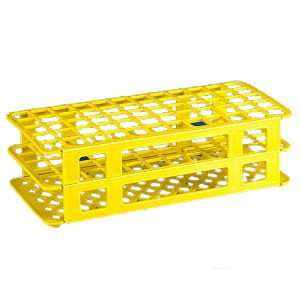 Rack, Tube, 20/21mm, 40-Place, PP, Yellow