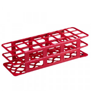 Rack, Tube, 30mm, 24-Place, PP, Red
