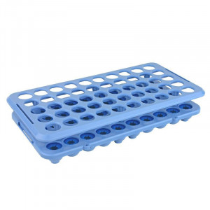 Rack with Grippers and Tube Eject, for up to 16mm Tubes, 50-Place, Autoclavable, Blue