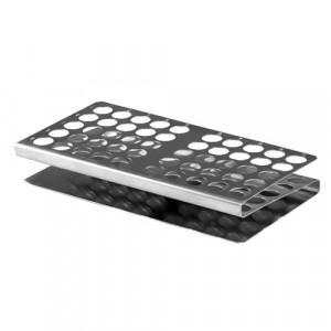"""Rack, Tube, 16/17mm, 50-Place, Stainless Steel """"Z"""" Shape"""