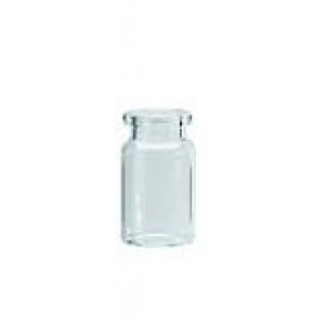 6mL Clear Headspace Crimp Vial, Flat Bottom, Beveled Top 22 x 38mm (1000/pk)