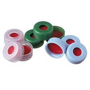 11mm Green Snap-It Seals with Red PTFE/white silicone/Red PTFE (100/pk) septa
