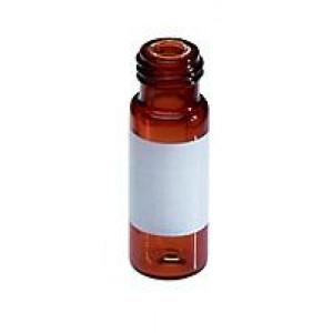 2mL, 12 x 32mm  MacroVial 350μL Fused Insert Vial, Amber Glass I-D 100/pk