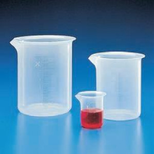 Beaker, PP, Molded Graduations, 500mL, 1/Unit