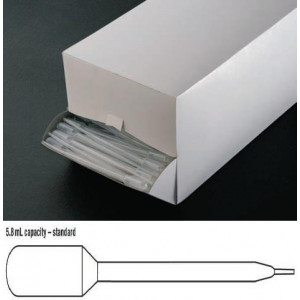 Transfer Pipet, 5.8mL, Fine Tip, 147mm, 500/Dispenser Box