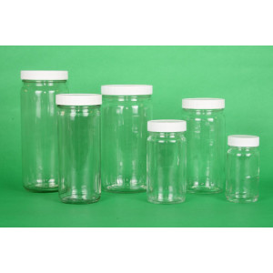 1oz Clear Tall WM AC Jar Assembled w/33-400 F-217 Lined Cap (432/cs)