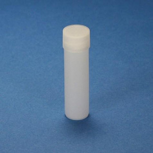 Scintillation Vial, 4mL, PE, with Attached White Screw Cap, 1000/Unit