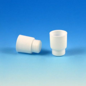 Cap, Plug, 16mm, High Grip, White, 1000/Unit