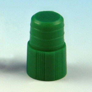 Cap, Plug, 12mm, Green, 1000/Unit