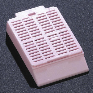 Cassette, Tissue Embedding with Attached Lid, 30° Writing Area, PINK, 500/Dispenser Box, 2 Boxes/Unit