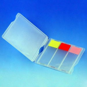 Slide Mailer, Polypropylene, for 3 Slides, Natural, 100/Box, 10 Boxes/Unit