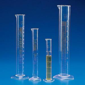 Graduated Cylinder, PMP (TPX), Molded Graduations, 100mL, 30/Unit