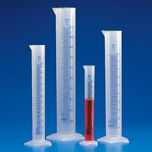 Graduated Cylinder, PP, Printed Graduations, 250mL, 1/Unit
