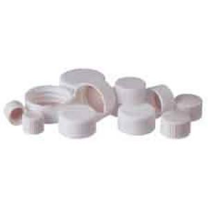 8-425 White Urea PTFE Lined Closed Cap (100pk)