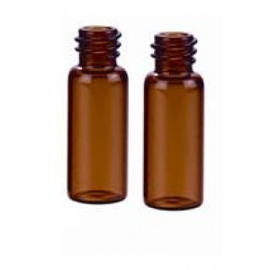 12mL AMBER BOROSILICATE GLASS SAMPLE VIAL, 15-425 FINISH, 19 x 65mm Vial (200/pk)