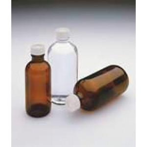 1 Liter Amber Narrow Mouth,33-430 Open Top Cap w/Septa Certified (12/cs)