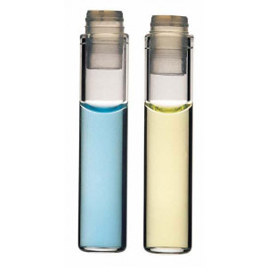 8x35  Clear Glass Auto Sampler Secap Injector Vial w/PE Cap (1000/cs)