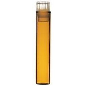 1mL Amber Secap Vial w/Closure for Water 96 (200/pk)