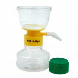 150mL Filter System, PES filter material, 0.45um pore size, 50mm diameter, Sterile (12/cs)
