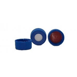 9mm Cap Screw, Blue Ribbed Red PTFE/White Silicone w/Slit  100pk