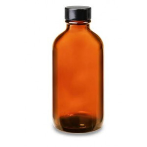 60mL Amber Pour Out Assembled w/28-430 Black Phenolic PolyCone Cap (216/cs)